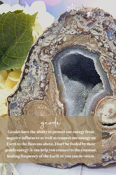 Geodes have the ability to protect our energy from negative influences as well as connect our energy on Earth to the Heavens above. Don't be fooled by their gentle energy, it can help you connect to the constant, healing frequency of the Earth so you can de-stress.