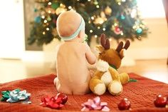 baby Christmas picture | Jessica Smith Photography….if only my hubby would let me take a pic of our baby like this | best stuff