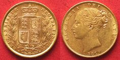 1870 England GREAT BRITAIN Gold Sovereign 1870 die number 91 VICTORIA - UNC/aUNC!!! # 36774 UNC/AU