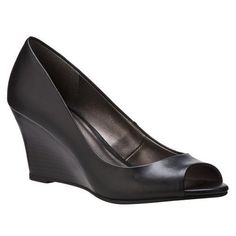 7018d8f9f81 Women s Merona® Maire Peep-Toe Wedges - Black.Opens in a new window