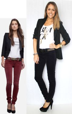J's Everyday Fashion: Today's Everyday Fashion: Blue Velvet - I have those pants! Need a blazer!