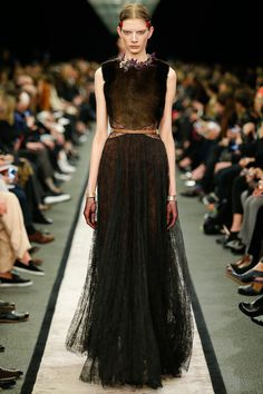 Givenchy | Paris Fashion Week 2014 | Days 5&6 (Part 2)  Loving the ombre-ish brown. Could be dragon piece or spirit animal