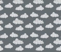 Geometric Cloud - Charcoal fabric by andrea_lauren on Spoonflower - custom fabric