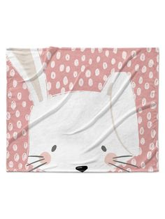 Bunny Velveteen Blanket by Kavka Designs at Gilt
