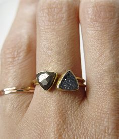 Double Triangle Stacking rings by Friedasophie - www.friedasophie.etsy.com