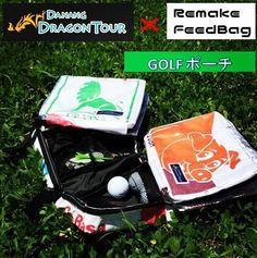 ダナンドラゴンツアーさんからご依頼をいただき、ゴルフポーチを作成させていただきました! 商品についてのお問い合わせはコチラ! http://tours-danang.com #ダナン #danang #バック #bag #danangdragontour #ダナンドラゴンツアー #remakefeedbag #ゴルフ #golf #コラボ