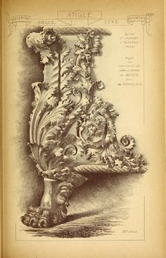 Materials and documents of architecture and sculpture : classified alphabetically Drawing Course, Acanthus, Architectural Elements, Florence, Black And Grey Tattoos, Antique Art, Architecture, Wood Art, Framed Art