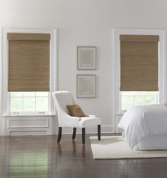 Captivating Natural Woven Roman Shades and Bamboo Blinds Woven Wood Shades Blindsgalore 38411 is just one of pictures of Roman Shades concepts for your hou Woven Wood Shades, Bamboo Shades, Interior Window Shutters, Interior Windows, Cool Curtains, Curtains With Blinds, Window Blinds, Room Window, Blackout Curtains