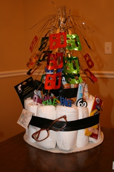 Over the Hill - Depends Cake (another idea perfect for justin's dad's 50th is this month!)
