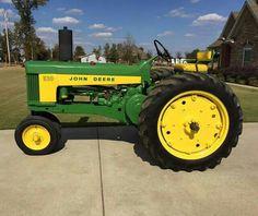 JOHN DEERE 530 All-Fuel Old John Deere Tractors, Jd Tractors, John Deere Equipment, Old Farm Equipment, Tractor Implements, Classic Tractor, Antique Tractors, Hobby Farms, Rubber Tires