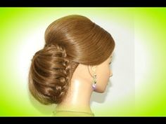 M Wedding bridal hairstyle for long hair. Updo hairstyles - YouTube