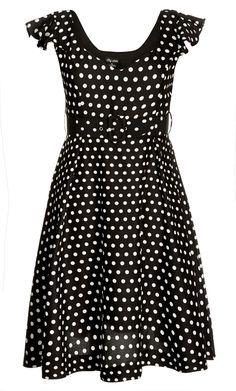 City Chic - FLUTTER SPOT DRESS - Women's Plus Size Fashion