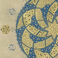 This complex and very beautiful work by posted by today demonstrates that floral arabesques remain a powerful form of… Islamic Art Pattern, Pattern Art, Islamic Calligraphy, Calligraphy Art, Arabesque Pattern, Persian Pattern, Tangle Art, Turkish Art, Arabic Art
