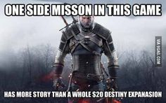 Just one of the reasons why The Witcher 3 is one if not the best game ever.