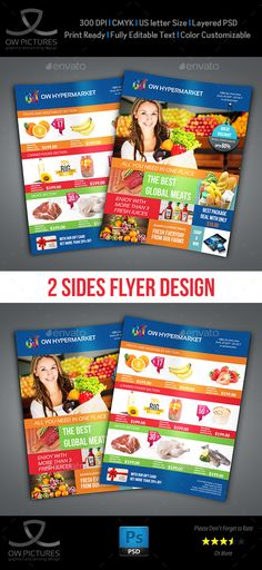 Supermarket / Product Flyer - Flyers Print Templates