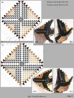 Beading star - 4/7 - beading Peyote Stitch tutorial.