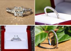 SALE - Certified - 2.25 carats - Radiant cut Diamond Engagement ring and wedding band SET  - 14k White gold Bp018 by BeautifulPetra on Etsy https://www.etsy.com/listing/157689355/sale-certified-225-carats-radiant-cut