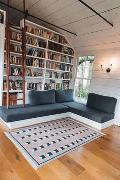 Home Library Rooms, Home Library Design, Home Office Design, Small Home Libraries, Cozy Home Library, Dream Library, Library Wall, Interior Office, Floor To Ceiling Bookshelves
