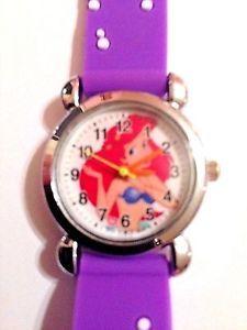 New Purple Little Mermaid Girls Silicone Watch 3 D | eBay