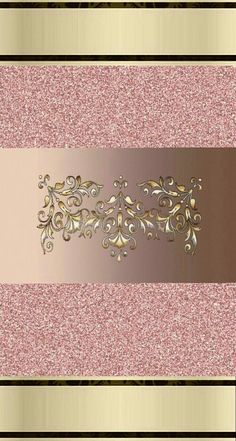 Pink & Gold Wallpaper...By Artist Unknown...