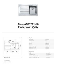 Aton ANX 211-86 Paslanmaz Çelik franke  franke Aton ANX 211-86 Paslanmaz Çelik