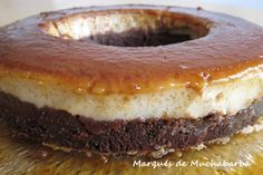 CHOCOFLÁN O TARTA IMPOSIBLE Sweet Cooking, Flan, Sweet Cakes, Other Recipes, Deli, Doughnut, Cooking Recipes, Cream, Desserts