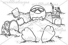 $3.00 Sunny Brrr Digital Stamp  (http://buyscribblesdesigns.blogspot.ca/2013/10/229-sunny-brrr-300.html) #digis #digital stamps #scribbles designs #penguins