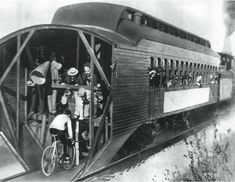 Train-pacing was a dangerous stunt, but trains were the fastest vehicles in the 1890s and racers used their speeds as a benchmark. The most famous was 'Mile-a-Minute' Murphy who broke the world cyc...