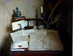 Dennis Severs' House - Dickens room desk | Flickr - Photo Sharing!   by Stephanie Wolff