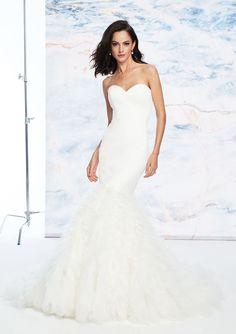 03899a21033 Justin Alexander Signature - Style 99059  Clean Satin Sweetheart Gown with  Pleated Trumpet Skirt -. Дизайнерские Свадебные ПлатьяДень Свадьбы