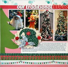 cricut layout scrapbook scrapbooking santa christmas trees traditional