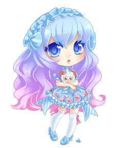 Chibi Colorful Girl
