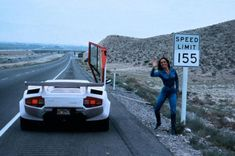 The Lamborghini Countach from the Cannonball Run