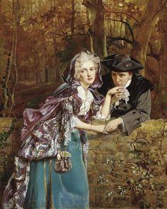 "♥ ""A Secret Assignation"" (1898) → Talbot Hughes (1869-1942)."
