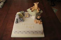enchanted nursery baby shower cake