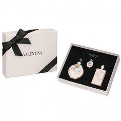 Estuche de regalo del #perfume para mujer Valentina de #Valentino  https://perfumesana.com/valentina/917-valentino-valentina-estuche-edp-50-ml-spray-body-lotion-100-ml-miniatura-8411061811085.html