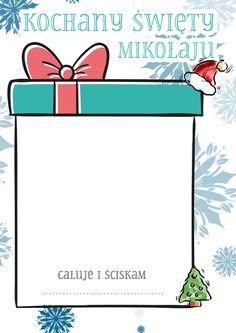 List do Św. Mikołaja - DIY szablon do pobrania Teacher Inspiration, Creative Activities, Winter Time, Christmas Time, Origami, Diy And Crafts, Doodles, Letters, Education