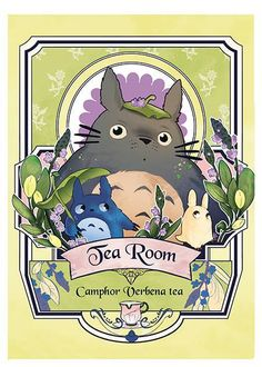 Totoro (versione Tea Room) Fanart. (Hayao Miyazaki)