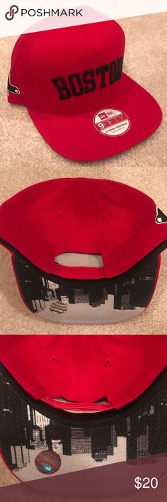 Shop Men s New Era Red Black size Adjustable Hats at a discounted price at  Poshmark. Description  New Era Boston Red Sox Snapback Cap BRAND NEW! d4941ce87aec
