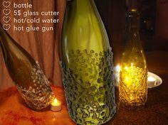 Silver Current Designs: Wine Bottle Centerpieces