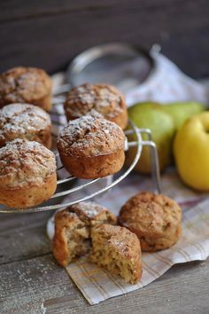Herbstliche Apfel-Birnen-#Muffins #rezept
