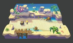 ArtStation - 项目图, minxi zhuang Game Level Design, Game Ui Design, Pixel Art, Bg Design, Low Poly Games, Environment Concept Art, Game Environment, Isometric Art, Cartoon Games