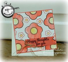 "June 2015 My Paper Pumpkin - alternate card featuring ""Happy Thoughts"" stamp set"