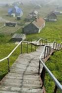Village on Bering Island, Commander Islands, Russian Far East