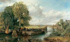 View on the Stour near Dedham by John Constable. Photograph: The Huntingdon Library Art Collections