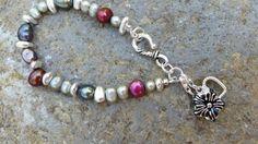 Beaded Baroque Pearl Bracelet Multi Color by GemsJewelsGirls