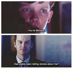 Story time: This kid, Wilson, watched his parents be murdered at a young age. Sherlock was called in to solve the case. Wilson was always smart and wanted to help. After the case Wilson was left without any family and Mrs. Hudson took him in, but he spent most of his time with Sherlock. Sherlock eventually adopted the boy, although they are more brothers than father and son (with a slightly parental element.) If you repin this please credit the story to me, thanks. @Abi
