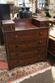Jenny Lind Style 5 Drawer Chest Antique Furniture