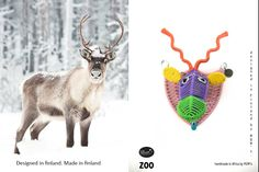 Scandinavian fauna: Reindeer Reindeer, Hooks, Scandinavian, Christmas Ornaments, Holiday Decor, Mini, Home Decor, Decoration Home, Room Decor