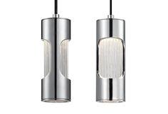420011-LED - Single Lamp LED Pendant with Metal Housing